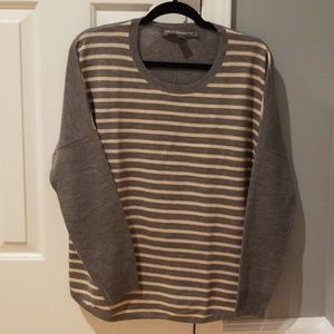 Grey/Blush Stripe French Connection Sweater
